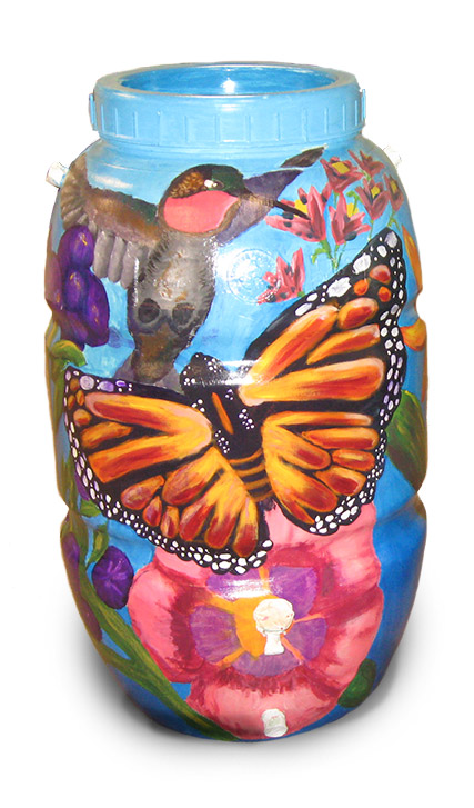 Butterfly rain barrel, part of PCCD's education and outreach.