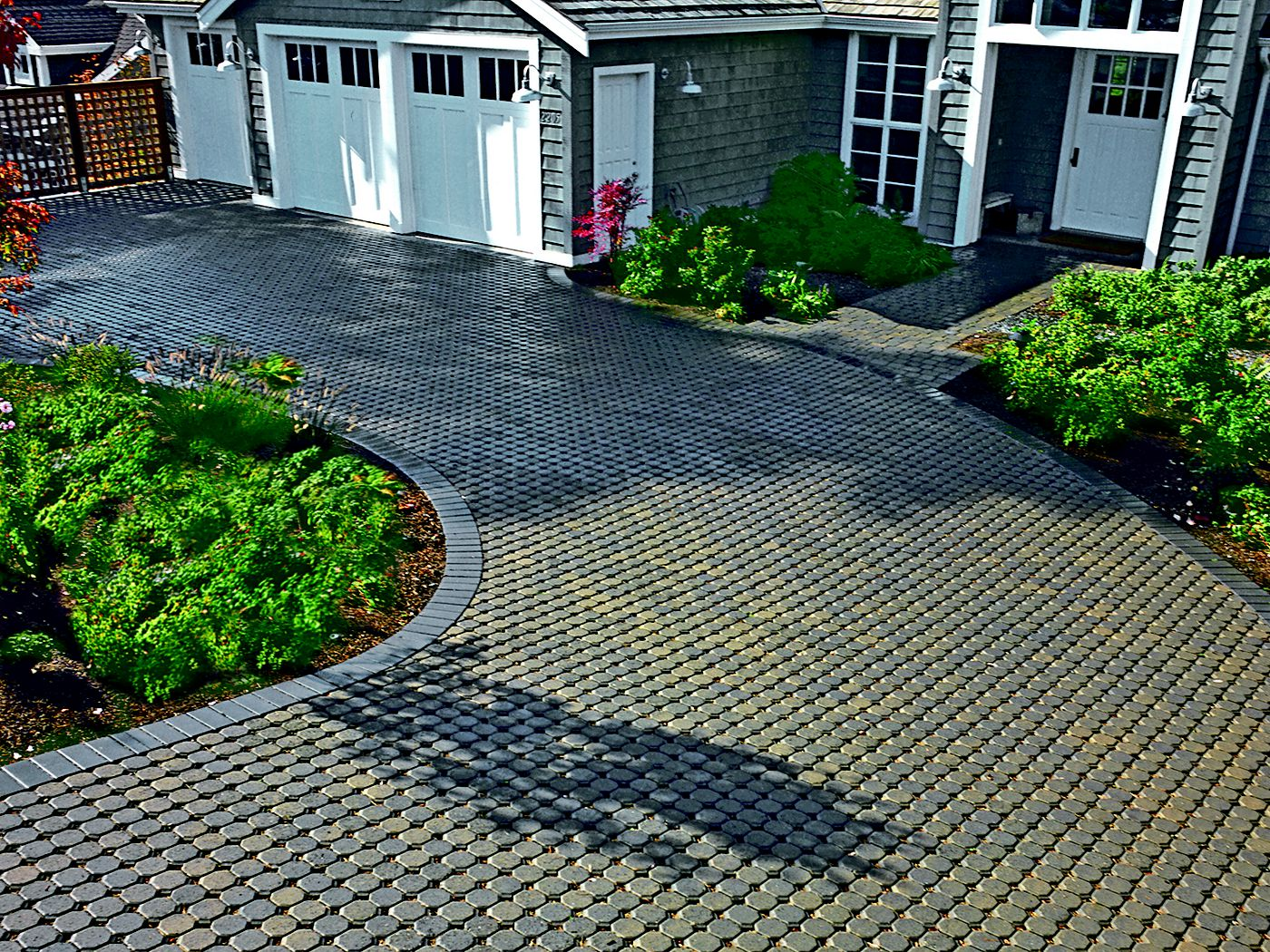 pervious pavers in a driveway