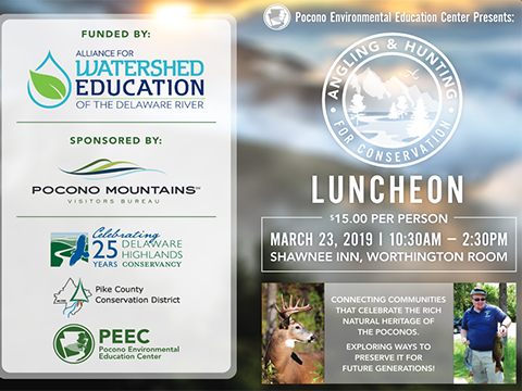 PEEC Angling and Hunting for Conservation Luncheon flyer.