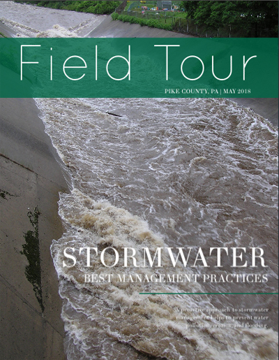 Cover of the Stormwater Best Management Practices Field Tour Guide.