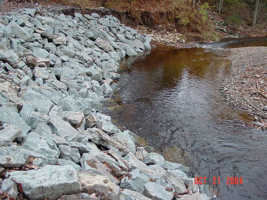 Pjoto of Stream Bank Rehabilitation that required a General Permit 3.