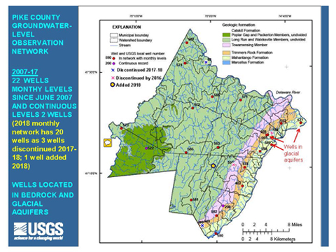 Part of the final USGS report on the Pike County groundwater level network.