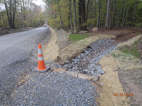 Photo of a DGLVR project in Greene Township on Sawmill Road.