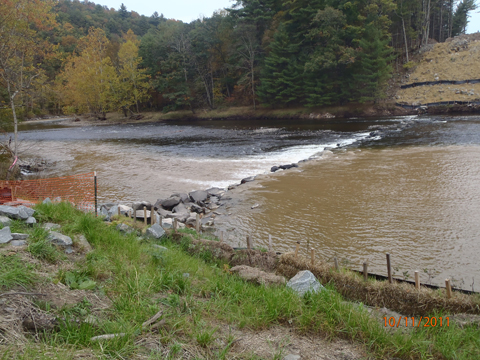 Photo of river sediment in Pike County, PA. Be sure to keep your water clean.