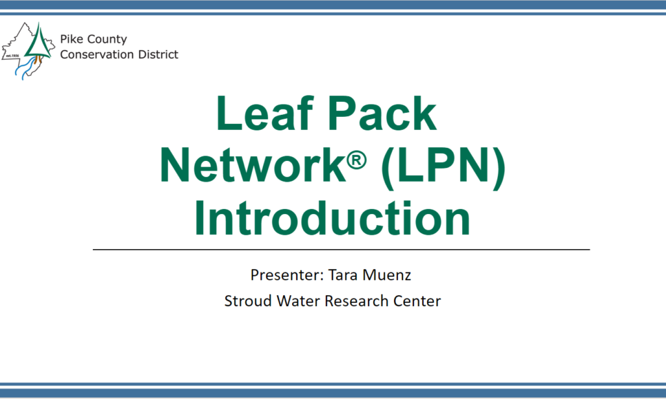 Introduction to Leaf Pack Network Webinar Now Available