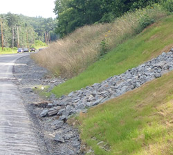 Photo of erosion control, part of the E&S Programs.