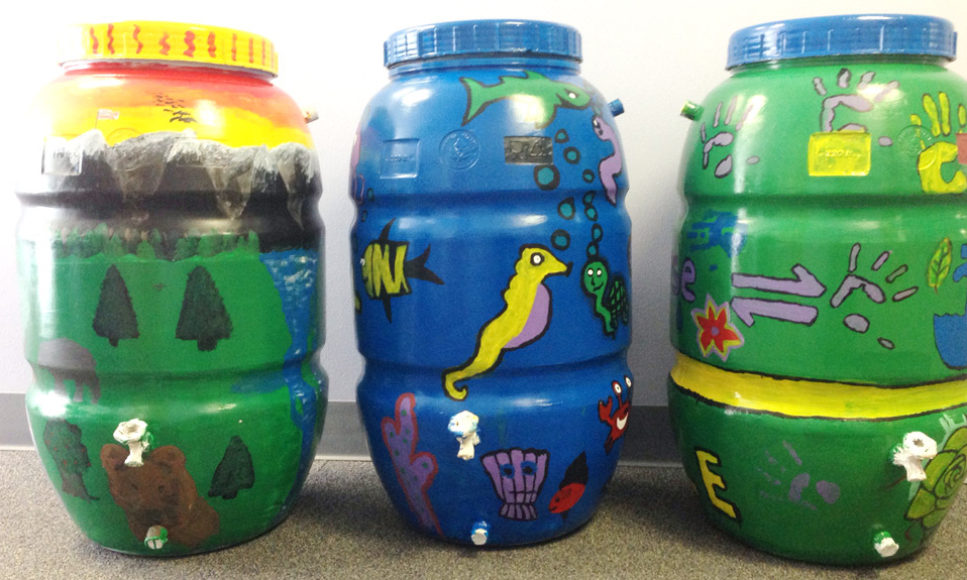Rain Barrel Silent Auction Funds Environmental Studies